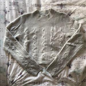 Club Monaco Alexis Knit Gray Sweater Size S